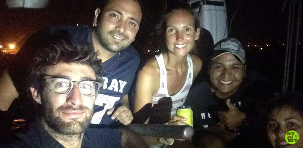five people on a sailboat in san andres