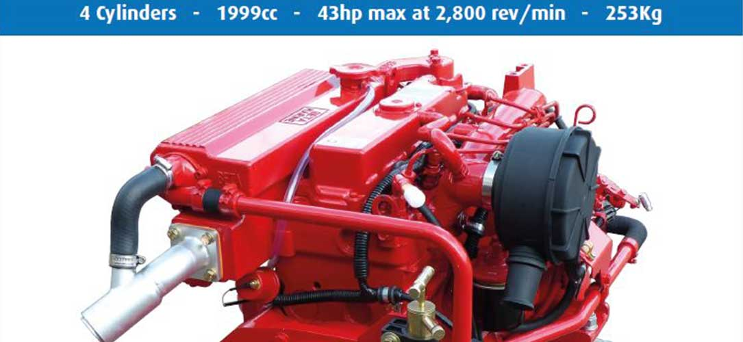Beta Marine 43 new engine